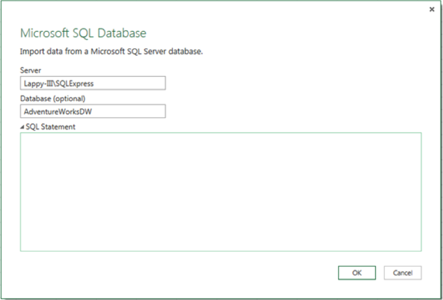 Select from SQL Server Database